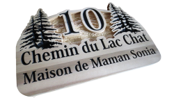 AB Creation - CNC - Plaque civique en cedre - Trois-Rivieres - Quebec