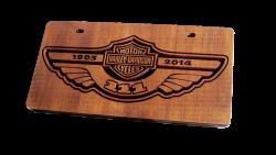 Plaque de voiture harley davidson 1903 a 2014 - 111 ans