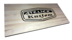 AB Creation - CNC - Gravure - Dessus de bureau - table - Atelier Kustom - Trois-Rivieres - Quebec