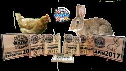 @ AB Creation - CNC - Gravure - Trophe erable Expo agricole de Trois-Rivieres - Quebec - bois - lapin poule pigeon