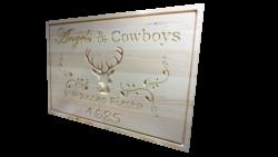 @ AB Creation - CNC - Panneau pour un ranch - Trois-Rivieres - Quebec 2