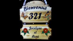 @ AB Creation - CNC - plaque adresse de camping - Trois-Rivieres - Quebec 2018
