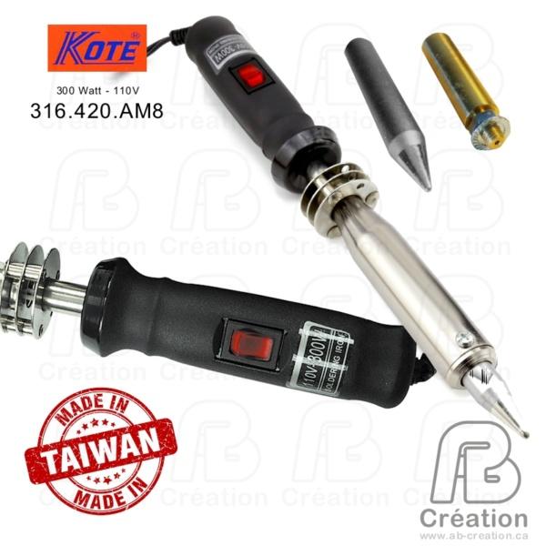 800X800 - Kote - 1 - FER-300W-KOTE-A - 300W - AB Creation - 300w - 110V - Trois-Rivières - Québec - Canada - fer a marquer - soldering iron