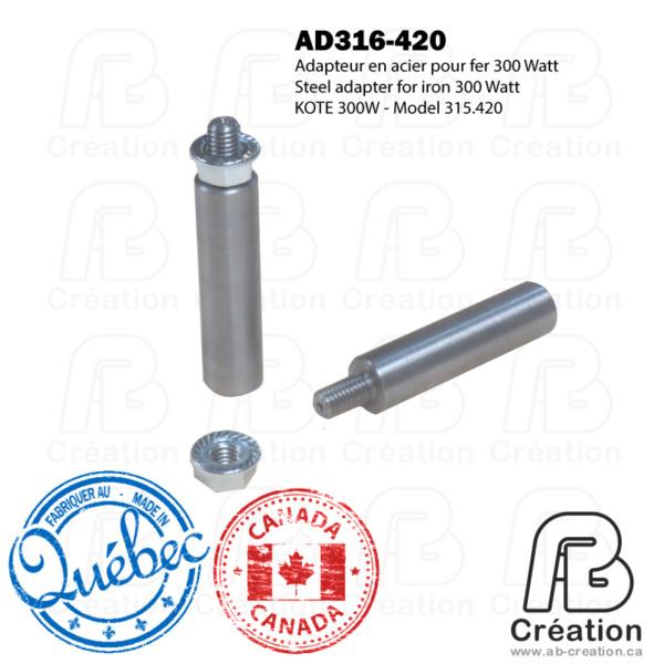 Kote 316.420 - Adapteur M8 - AD316-420 - Fer a marquer - AB Creation - Québec - Canada - Trois-Rivières - Soldering Iron