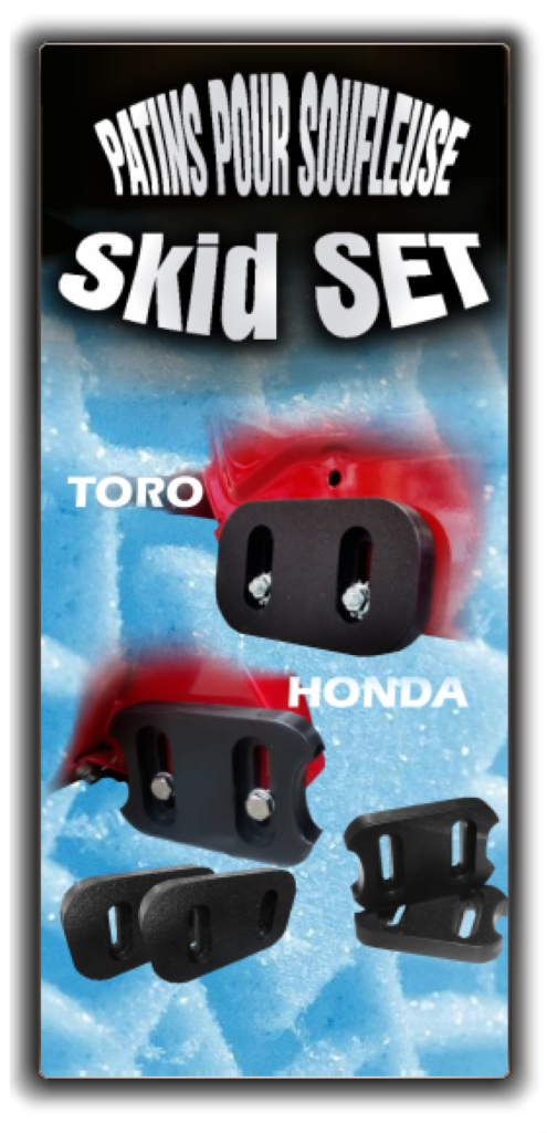 AB Creation - TOR-001 - HOD-001 - Patins à neige Honda et toro souffleuse - Skid shoes for Honda and toro snow blowers - Quebec - Canada