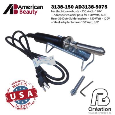 American Beauty - 150W - 3138-150 - AB Creation - Québec - Fer à marquer - Soldering Iron 1c