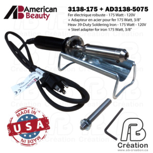 American Beauty - 175W - 3138X-175 - AB Creation - Québec - Fer à marquer - Soldering Iron
