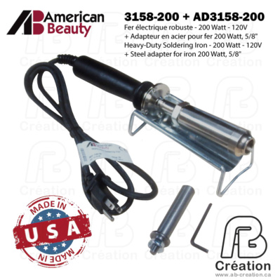 American Beauty - 200W - 3158-200 - AB Creation - Québec - Fer à marquer - Soldering Iron