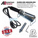 American Beauty - 250W - 3158X-250 - AB Creation - Québec - Canada - Fer à marquer - Soldering Iron - branding iron
