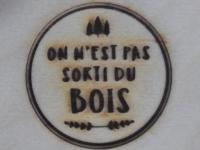 AB Création - On n'est pas sortie du Bois - fer a marquer - Québec - Canada