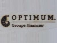 AB Création - Optimum Groupe Financier - fer a marquer - Québec - Canada